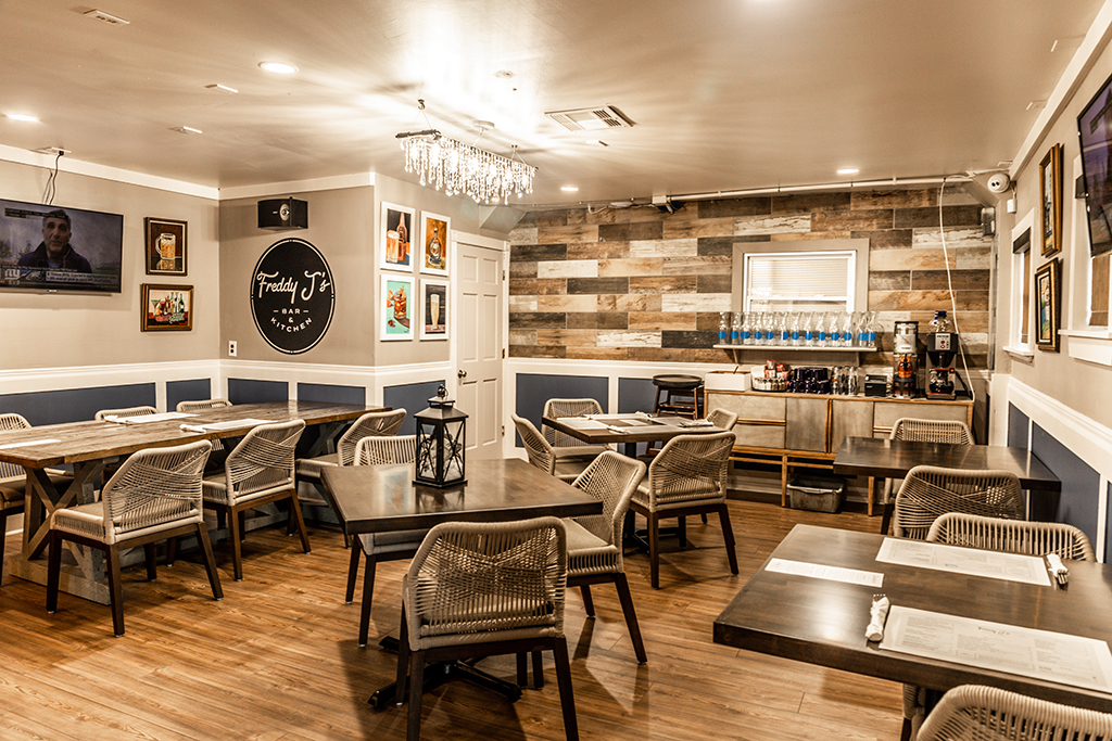 The Back Dining Room of Freddy J's Bar & Kitchen in Mays Landing, NJ